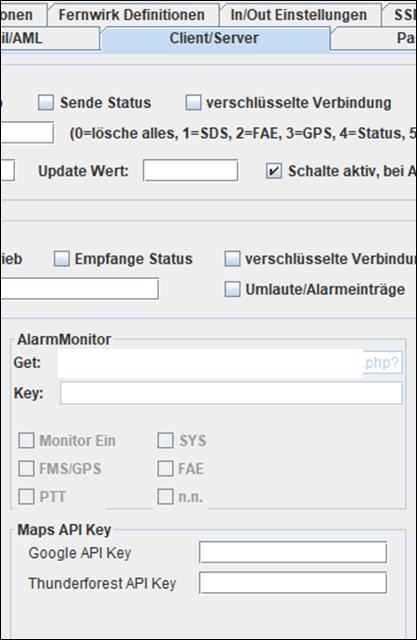 AML Setup Ergänzung - GIS System API Daten