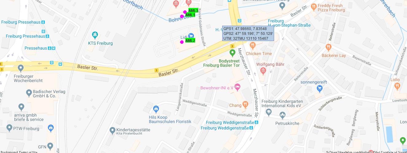 AML Advance Mobile Location mit Sandan - Google Map Karte