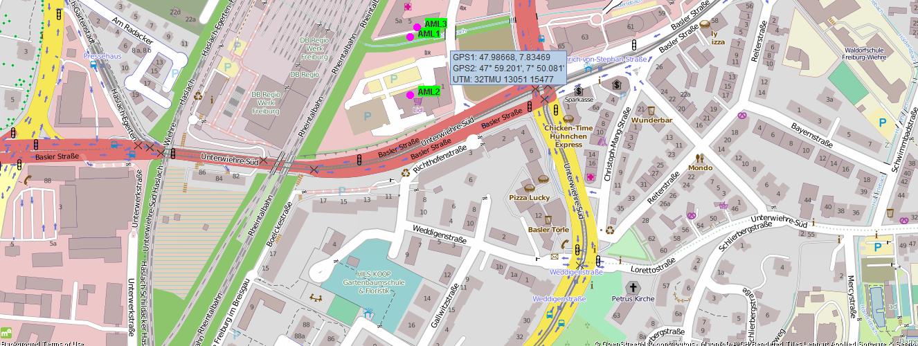 AML Advance Mobile Location mit Sandan - OSM Offline Karte