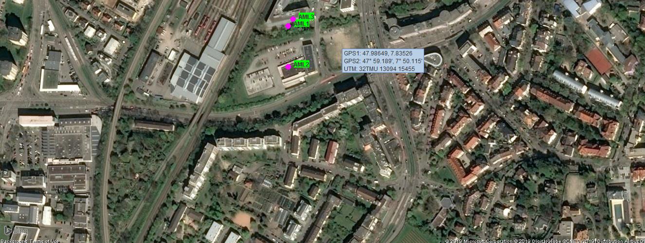 AML Advance Mobile Location mit Sandan - Bing Sat Karte