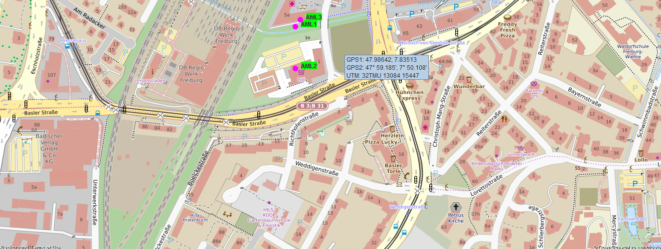 AML Advance Mobile Location mit Sandan - HikeBike Karte